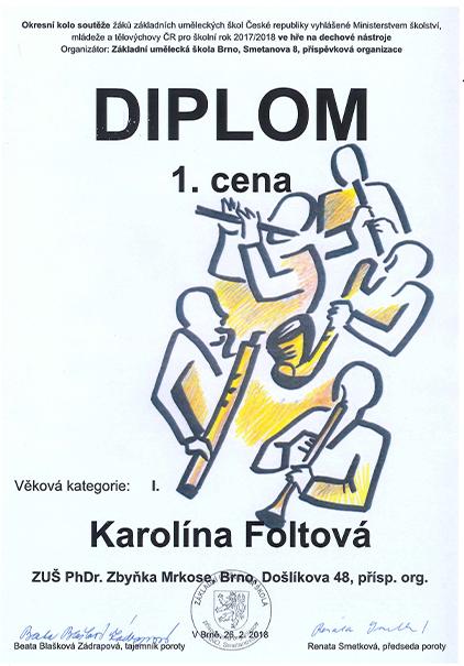 Foltová1. cena
