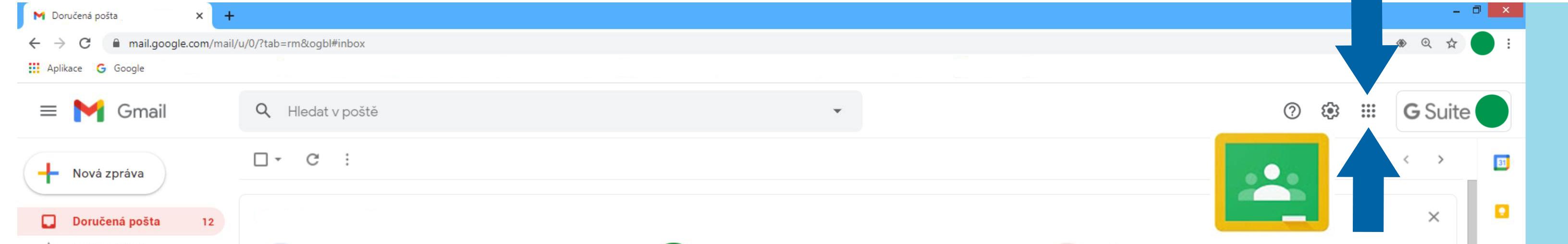 Opakovaný vstup do Google Učebny
